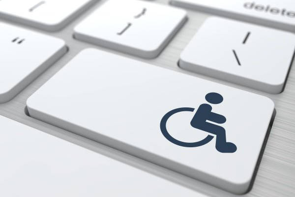 image of disability symbol on a keyboard button - Jon Correll Attorney LLC attorney provides assistance with social security disability