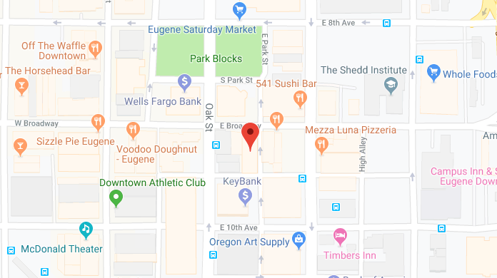 location map for Jon C. Correll Attorney LLC, attorney for worker's compensation claims and Social Security disability claims